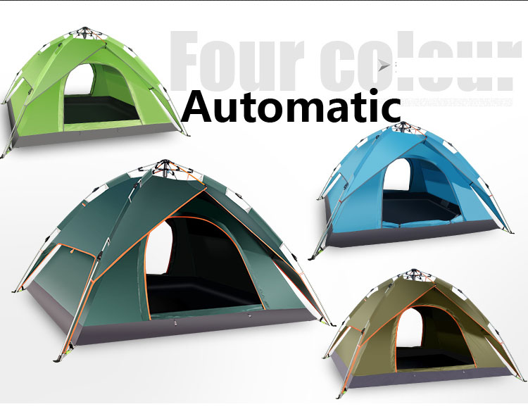 2016 Hot sale 240x210x100cm 4 persons automatic camping tent,outdoor tent,high class tent, one second fast auto tent outdoor camping hiking automatic camping tent 4person double layer family tent sun shelter gazebo beach tent awning tourist tent