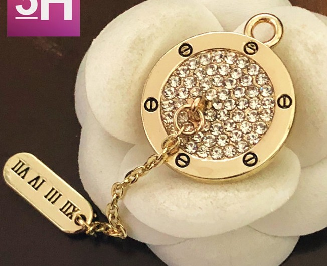 Wholesale 5 pieces 2018 New High-grade metal Rhinestone gold jacket  Overcoat Buttons Shirt Cotton 9b6c15701576