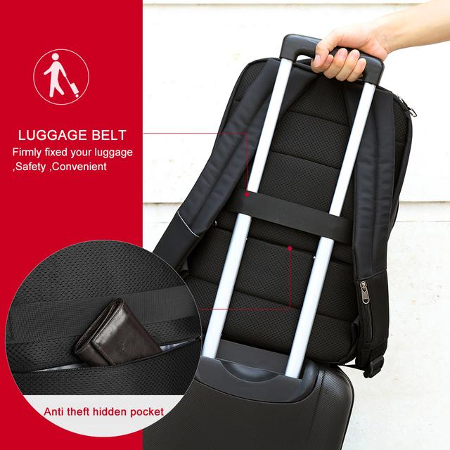 Tigernu Waterproof Nylon Travel Backpack Men's Backpacks for 15.6″ Laptop Women Notebook Mochila Leisure school backpack Female