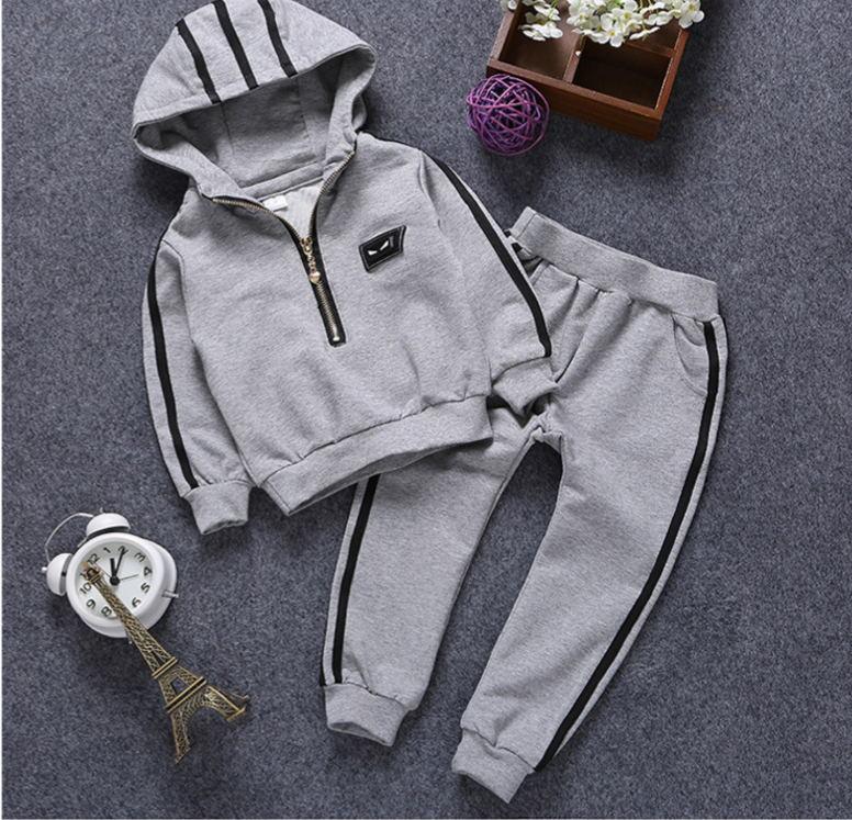 Fashion Baby Boy Sets Children Clothing Jogging sets hooded tracksuits for boys Kids Sports suits jogging enfant garconJ0252