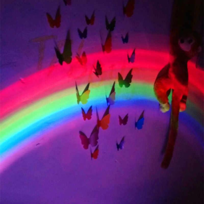 Đầu giường Lãng Mạn LED Rainbow Đèn Chiếu Sáng Tạo Pin Rainbow Máy Chiếu Đèn Ngủ Để Bàn Đèn Cô Gái Trẻ Em Trang Trí Phòng