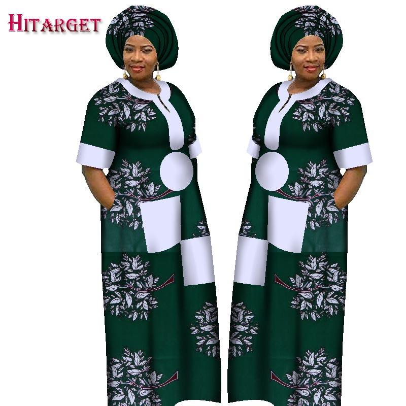 2018 automne robe pour femmes Dashiki sur mesure africain imprimé robes femmes confortable lâche femmes vêtements africains WY1226