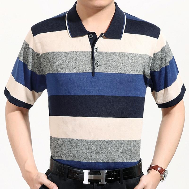 2017 casual short sleeve business mens shirts male striped fashion brand polo shirt designer men tenis polos camisa social 388