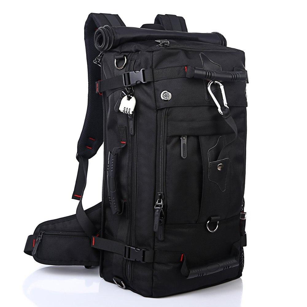 50L haute capacité Double Poissons imperméable à l'eau En Plein Air voyage randonnée camping de travail Gym sac 3 façons de transport Utilitaire Alpinisme sac