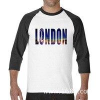 2017 محب الأساسية قمم مضحك لندن الغرض تور مدينة مضحك بلايز راجلان كم طويل تي شيرت الرجال