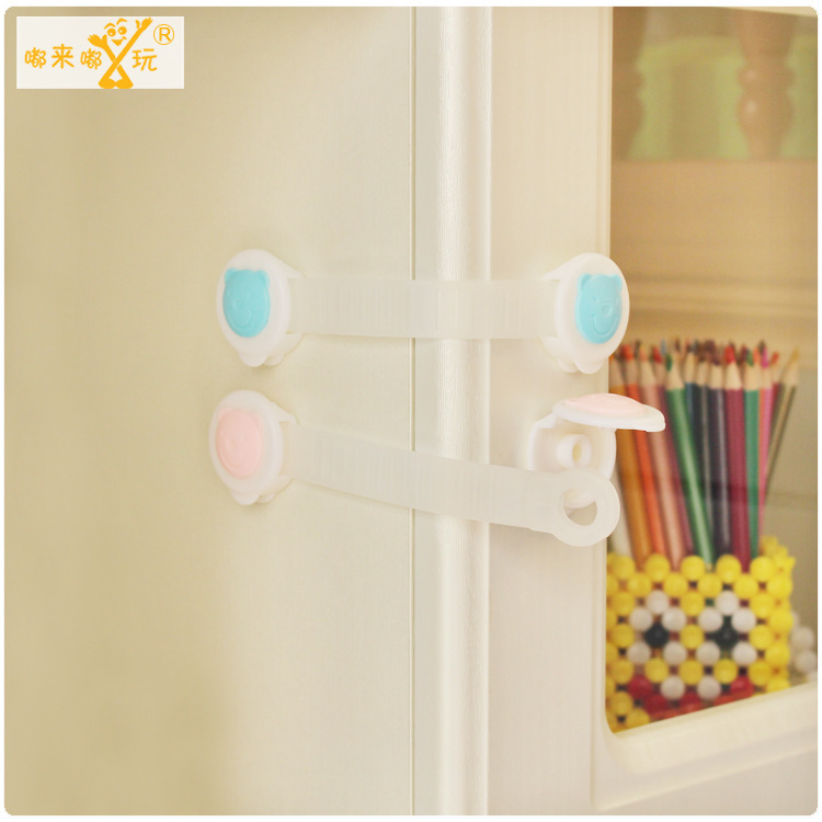 2 PIC/lot Child Toilet locks protection Lengthen cabinet lock baby safety watch women blockers doors for child Microwave lock