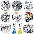 WYBEADS 925 Sterling Silver Charme Minnie Conto De Fadas Amor CZ Encantos Europeus Bead Fit Pulseiras & Bangles DIY Acessórios Jóias