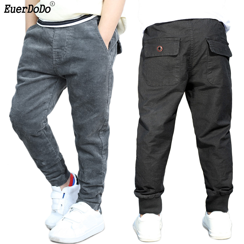 Teenage Boys Autumn Winter Pants 3-12 Years Boy Trousers Children Warm School Pants For Boys Winter Clothing Teenagers Clothes