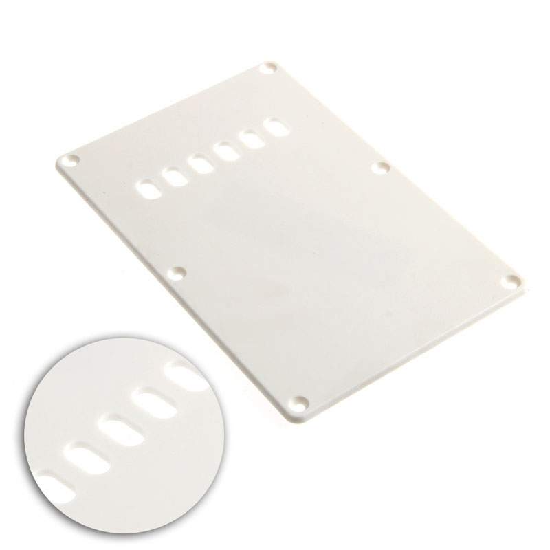1Pc White Back Plate Tremolo Trem Cover For Fender Strat Stratocaster Parts