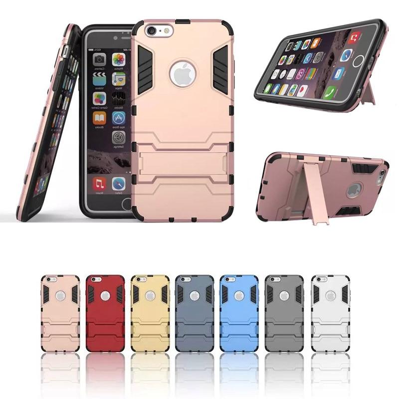 NYHET Armor Case Cover för Iphone 6 6S PC + TPU 2 i 1 Stötsäker - Reservdelar och tillbehör för mobiltelefoner