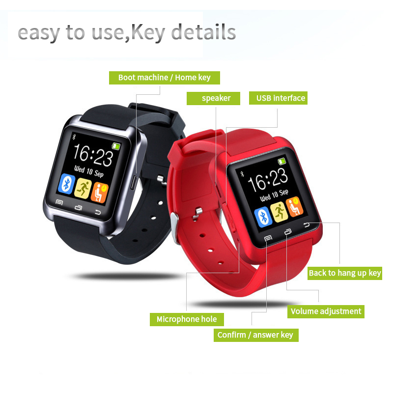 53f9cbbd3 CTRINEWS Bluetooth Smart Watch U8 smartwatch Sport Watch with Pedometer  Message SMS Sync Call Reminder Remote For IOS Android-in Smart Watches from  Consumer ...