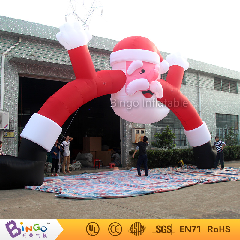 Bingo 10m Christmas inflatable arch door with santa claus cartoon on the top for Christmas party decoration festival toy 2017 vioslite 2 1m inflatable christmas tree with bag in high quality for festival decoration