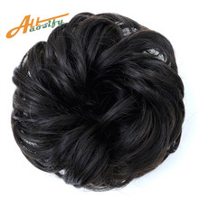 Allaosify Synthetic Hair Chignons Elastic Scrunchie Extensions Hair Ribbon Ponytail Hair Bundles Updo Hairpieces Hair Buns(China)