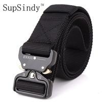 SupSindy Men S Canvas Belt Metal Insert Buckle Military Nylon Training Belt Army Tactical Belts For