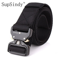 SupSindy Men S Canvas Belt Metal Insert Buckle Military Nylon Training Belt Army Tactical Belts For