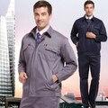 Conjunto de Casaco + Calça Roupas desgaste do trabalho conjunto uniforme do mecânico masculino longo-luva roupas de proteção h-811
