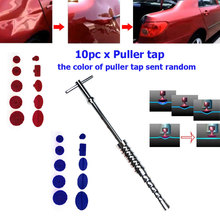 1Set Paintless Car Dent Repair Tools Hail Removal Kit T Bar Side Hammer Glue Puller Tap Tool Dent Puller Suction Cup Tool Set
