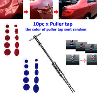 1Set Paintless Car Dent Repair Tools Hail Removal Kit T Bar Side Hammer Glue Puller Tap