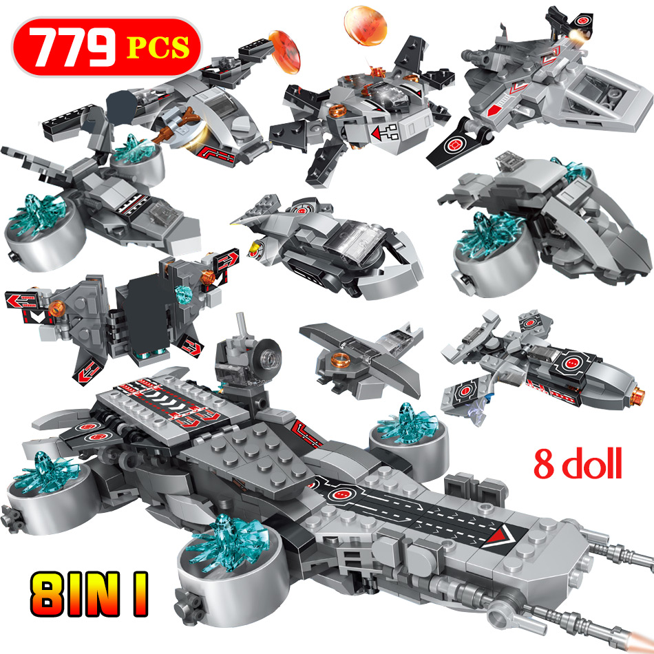 779pcs The Shield Aircraft Carriers Building Blocks Compatible Super Heroes Iron Man Action Figures Bricks Toys Christmas Gifts