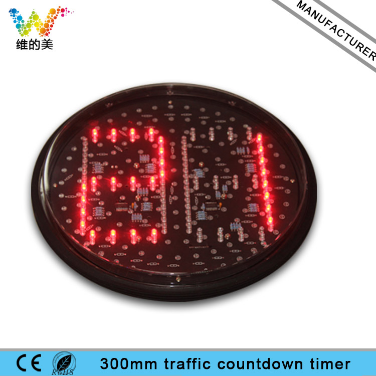LED Traffic Countdown Timer Module Road Junction 300mm Learning Dual Colors Red Green DC ...