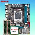 Бестселлер марки HUANAN Чжи X79 Micro-ATX материнская плата с ЦПУ Оперативная память bundle Процессор Xeon E5 2640 2,5 ГГц Оперативная память 16G (2*8G) DDR3 регистр...