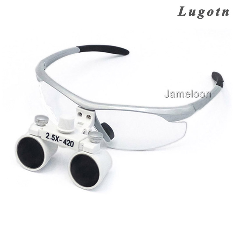 2.5X times enlarge magnify glasses surgical operation magnifier lens adjustable eye distance dental loupe 3led magnifier for dental surgical and watch repairing and reading magnifier with lighted adjustable helmet head mounted magnify
