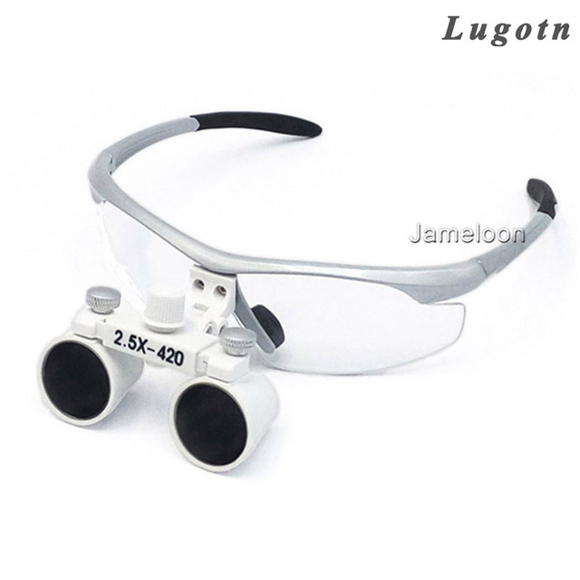 2 5x times enlarge magnify glasses surgical operation magnifier lens
