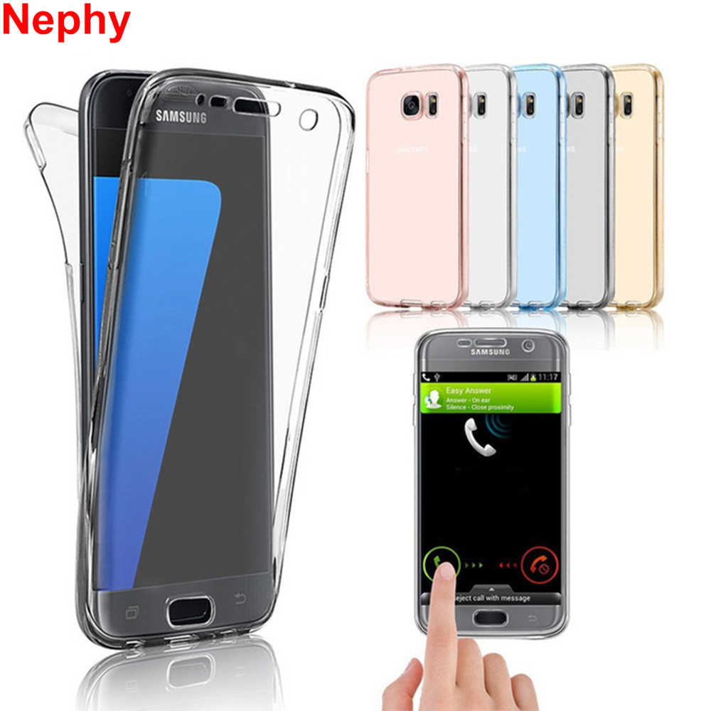 Nephy Clear Cell Phone Case Voor Samsung Galaxy S3 S4 S5 S6 S7 Rand S8 S9 Plus S8Plus S9Plus Duos soft Silicon TPU 360 Volledige Cover