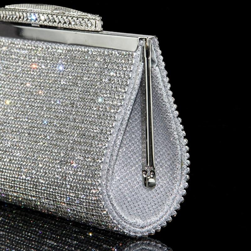 bac7deb6e9 US $19.32 52% OFF|Women Full Diamond Clutch Rhinestone Evening Bag Luxury  Bling Crystal Wedding Bridal Party Purse Lady Shining Banquet Dinner Bag-in  ...