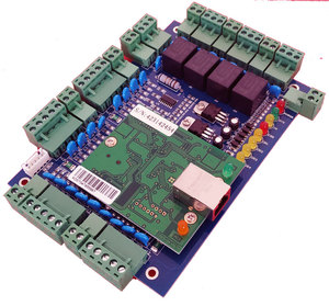 Image 3 - TCP/IP four Door access Control,Network access control board for access  system / time attendance support RFID QR reader sn:L04