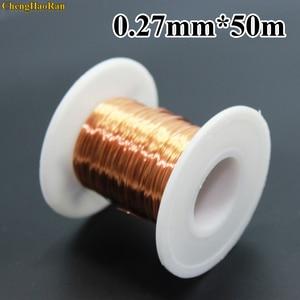 Image 1 - ChengHaoRan 0.27mm 50m 100m 300m 500m 1000m QA 155 New Polyurethane Enameled Wire Copper wire