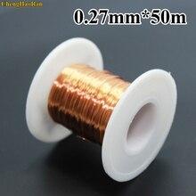 ChengHaoRan fil de cuivre émaillé en polyuréthane, nouveauté, 0.27mm 50m 100m 300m 500m 1000m QA 155 m