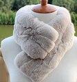 New Real Natural Rex Rabbit Fur Scarf High Fashion Brand Fur Shawl FP403 Free Shipping For Women Children Fur Warm Wrape