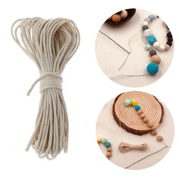 1mm Waxed Cotton Cord Baby Teether Accessories 5m Line For DIY Jewelry Making image