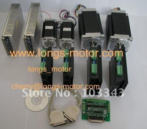 4 Axis CNC controller kit 425oz &880oz-in Stepper Motor CNC/MILL longs motor
