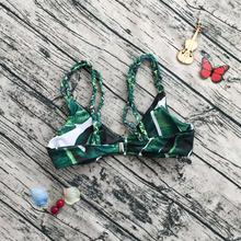 Embroidery Women's Bikini Set Sexy Leaves For Rope Swimsuit Push-up Swimwear Classical Sexy Women's Swimsuits Charming Biquini