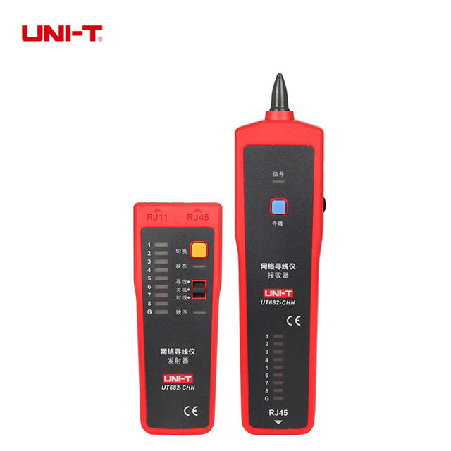 UNI-T UT682 Wire Tester Tracker RJ11 RJ45 Wire Line Finder Lan tester Handheld Cable Testing Tool for Network Maintenance