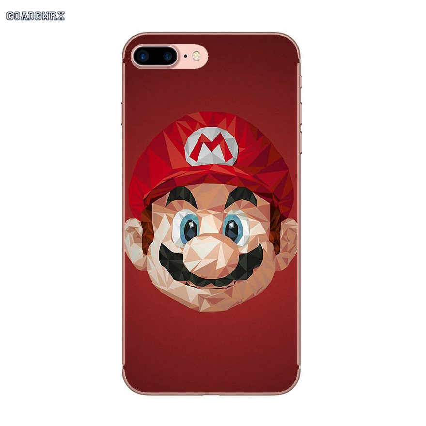Прозрачный мягкий чехол для samsung Galaxy S2 S3 S4 S5 Mini Alpha S6 S7 edge S8 S9 Plus J1 Grand Prime Super Mario Bros
