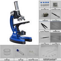 Birthday Gift 100x 600x 1200x Educational Illuminated LED Student Toy Children Biological Microscope for Kids to Learn Science