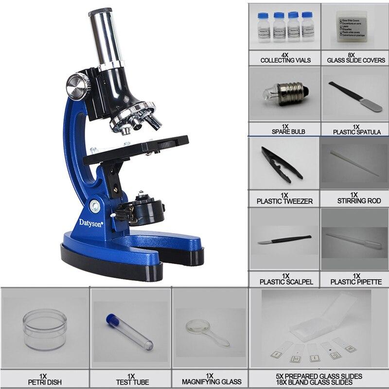 Presente de aniversário 100x 600x 1200x Iluminado LED Student Toy Crianças Microscópio Biológico Educacional para As Crianças aprenderem Ciência