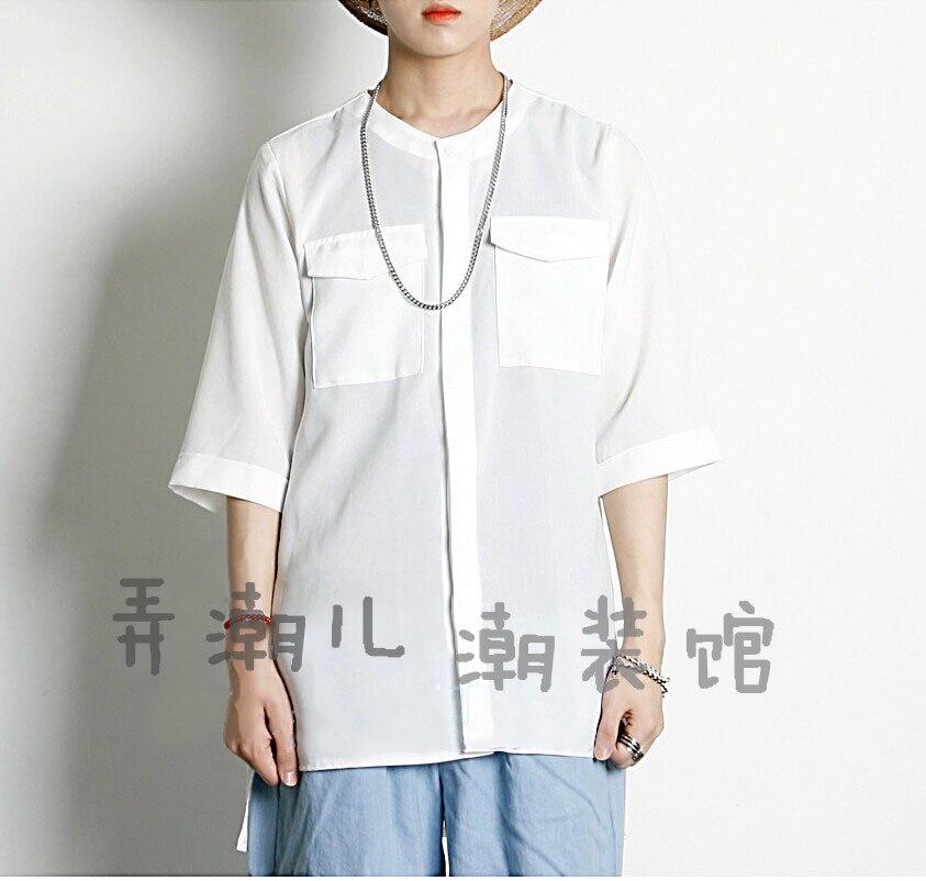 S-6XL!!! 2018 chemise à col rond à col rond chemise à vêtements pour hommes personnalisée fluide vêtement du chanteur