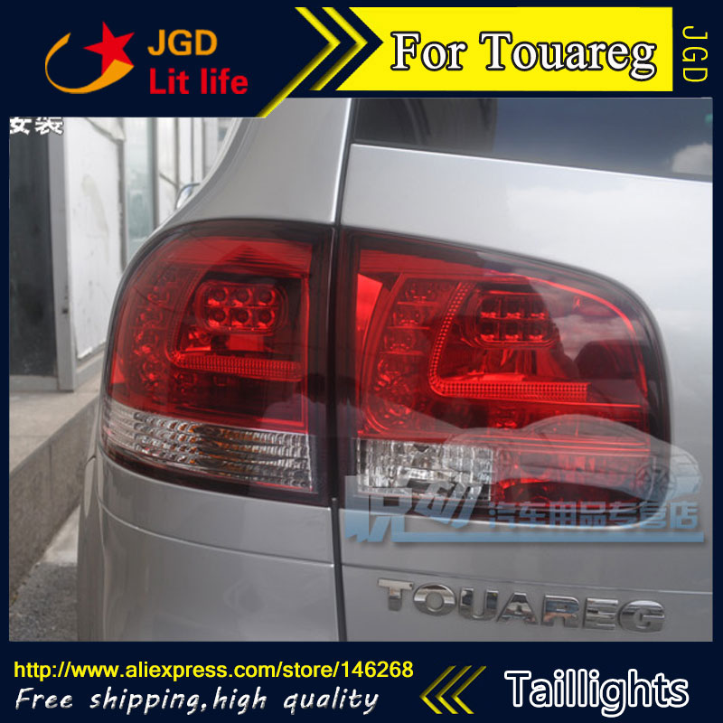 Car Styling tail lights for VW Touareg taillights LED Tail Lamp rear trunk lamp cover drl+signal+brake+reverse for vw volkswagen polo mk5 6r hatchback 2010 2015 car rear lights covers led drl turn signals brake reverse tail decoration