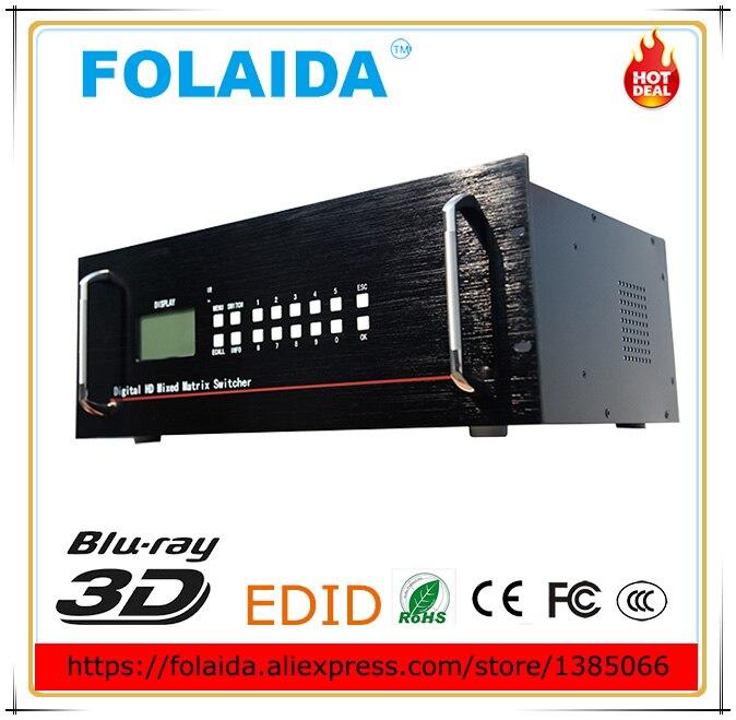 4Kx2k Professional 16X16 HDMI Matrix Switch Switcher Slot Plug-<font><b>in</b></font> HDCP 1080P 3D 4K*2K <font><b>Blu-ray</b></font> Video Auto <font><b>Loop</b></font> RS232 IR 4U