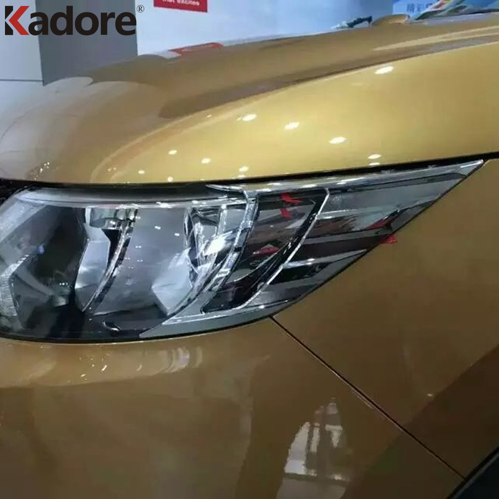 For <font><b>Nissan</b></font> <font><b>Qashqai</b></font> 2014 2015 2016 <font><b>2017</b></font> ABS Chrome Head Lamp Hood Trim Headlight Cover Car Auto Exterior <font><b>Accessories</b></font> image