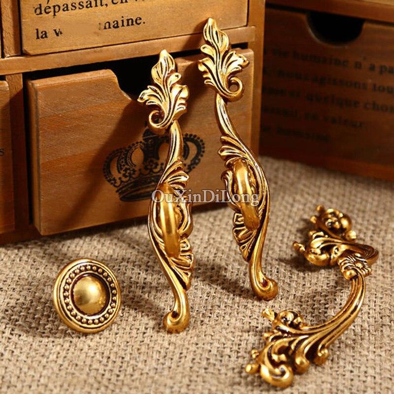 Popular 5 pares o 10 piezas europeas antiguas puertas de cocina muebles manijas Retro armario cajón armario tiradores y perillas - 2