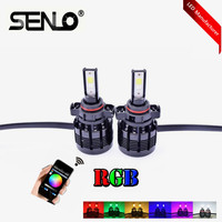 Wifi led RGB LED fog headlamp app control H1 H3 H4 H7 H8 H11 HB3 hb4 5202 H27 colorful light Head Lighthouse