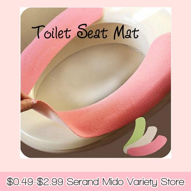 Alete adhensive reutilizáveis algodão reunindo tapete higiênico WC tampa de assento do toalete essentials SMWY011