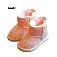 AAdct 2017 Fashion Children Shoes Winter Warm Girls Snow Boots Brand High Quality Rubber Kids Boots