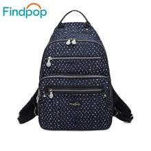 Findpop старинные рюкзак 2017 школьные сумки для подростка большой Ёмкость холст рюкзаки Водонепроницаемый Mochila Цветочный рюкзак женщин