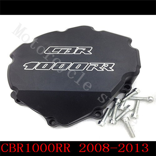 Fit for Honda CBR1000RR CBR1000 2008 2009 2010 2011 2012 2013 2014  Motorcycle Engine Stator cover Black Left side for honda cbr600rr 2007 2008 2009 2010 2011 2012 motorbike seat cover cbr 600 rr motorcycle red fairing rear sear cowl cover